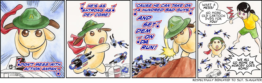 Guest comic by Jerzy and Anne Drozd - Action Anpan!