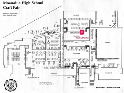 Moanalua High School Craft Fair Map '09