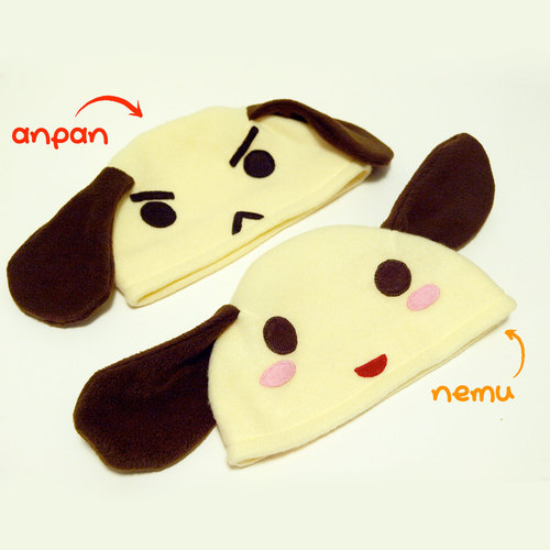 Nemu & Anpan Fleece Hats